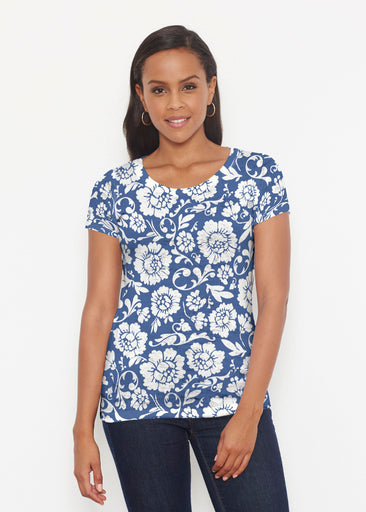 Traditional Navy (14135) ~ Signature Short Sleeve Scoop Shirt