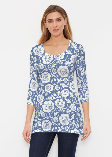 Traditional Navy (14135) ~ Buttersoft 3/4 Sleeve Tunic