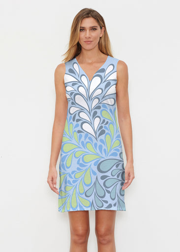 Flume Aqua (14149) ~ Classic Sleeveless Dress