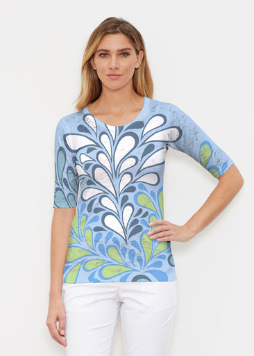 Flume Aqua (14149) ~ Signature Elbow Sleeve Crew Shirt