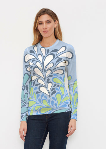Flume Aqua (14149) ~ Butterknit Long Sleeve Crew Top