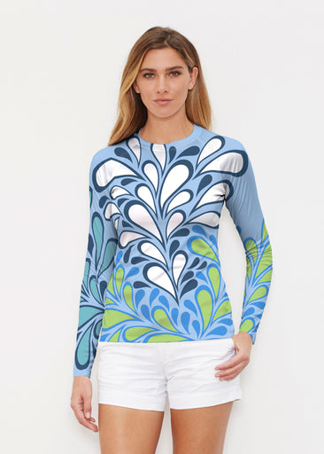 Flume Aqua (14149) ~ Long Sleeve Rash Guard
