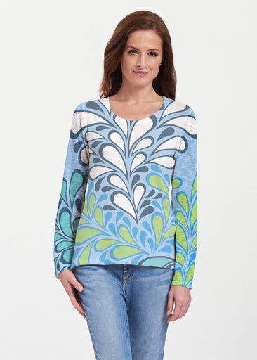 Flume Aqua (14149) ~ Texture Mix Long Sleeve