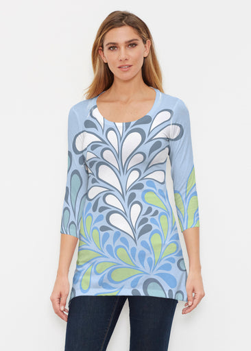 Flume Aqua (14149) ~ Buttersoft 3/4 Sleeve Tunic