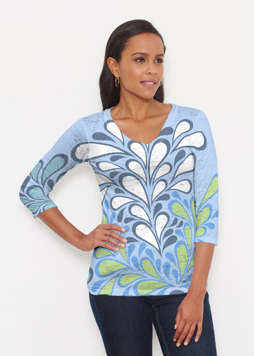 Flume Aqua (14149) ~ Signature 3/4 V-Neck Shirt
