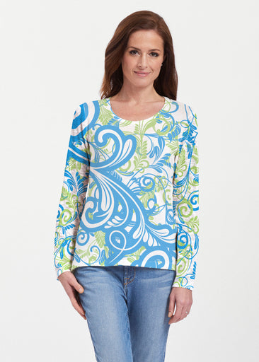 Spiraling Lime (14159) ~ Texture Mix Long Sleeve