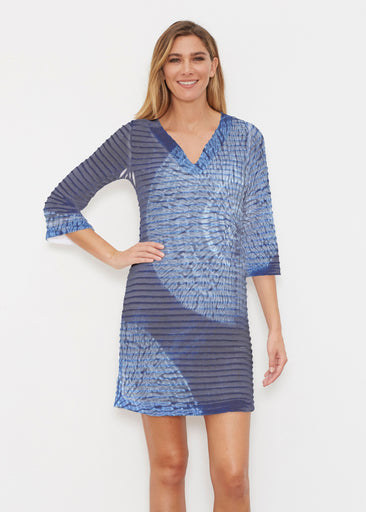 Dandelion Dream (14169) ~ Banded 3/4 Sleeve Cover-up Dress