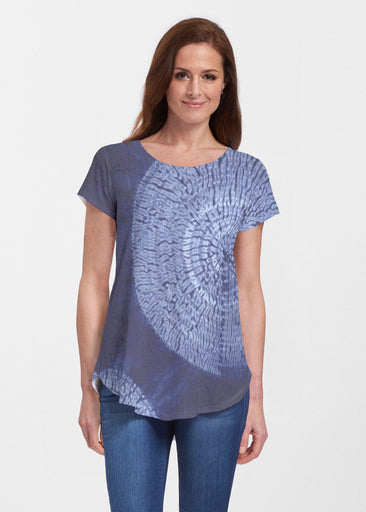 Dandelion Dream (14169) ~ Signature Short Sleeve Scoop Neck Flowy Tunic