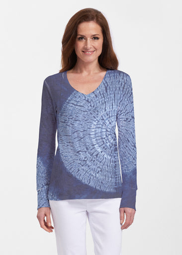 Dandelion Dream (14169) ~ Thermal Long Sleeve V-Neck Shirt