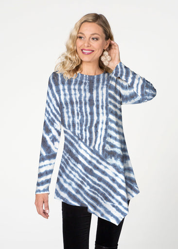 Tie-Dye Ripple (14183) ~ Asymmetrical French Terry Tunic