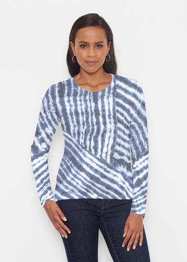 Tie-Dye Ripple (14183) ~ Signature Long Sleeve Crew Shirt