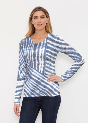 Tie-Dye Ripple (14183) ~ Thermal Long Sleeve Crew Shirt