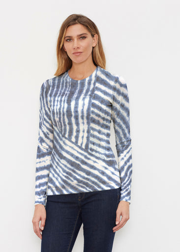 Tie-Dye Ripple (14183) ~ Butterknit Long Sleeve Crew Top