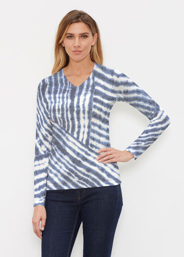 Tie-Dye Ripple (14183) ~ Butterknit Long Sleeve V-Neck Top