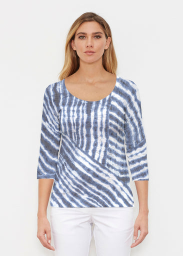 Tie-Dye Ripple (14183) ~ Signature 3/4 Sleeve Scoop Shirt