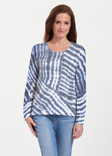 Tie-Dye Ripple (14183) ~ Texture Mix Long Sleeve