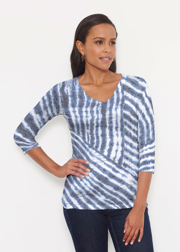 Tie-Dye Ripple (14183) ~ Signature 3/4 V-Neck Shirt