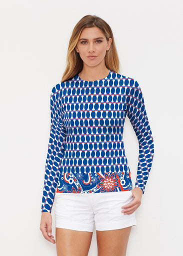 Mod Dot RWB (14195) ~ Long Sleeve Rash Guard