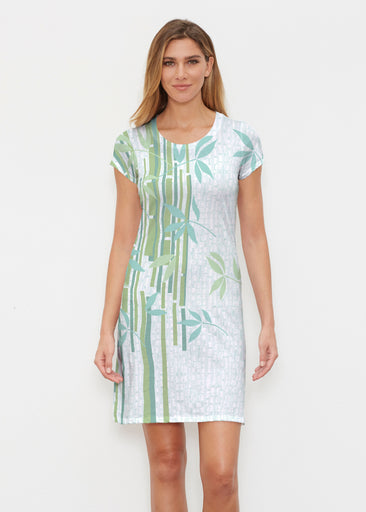 Bamboo Leaves (14197) ~ Classic Crew Dress