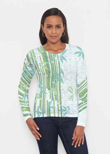 Bamboo Leaves (14197) ~ Signature Long Sleeve Crew Shirt