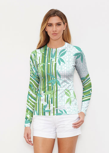 Bamboo Leaves (14197) ~ Long Sleeve Rash Guard