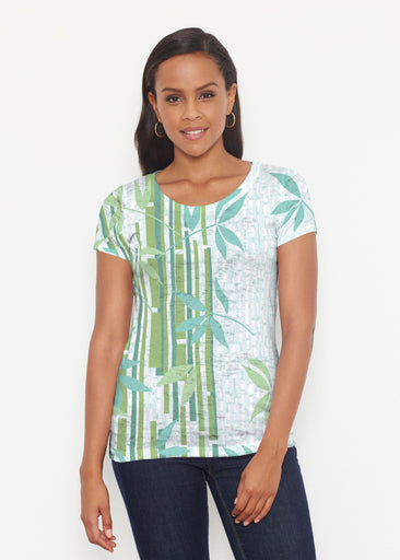 Bamboo Leaves (14197) ~ Short Sleeve Scoop Shirt