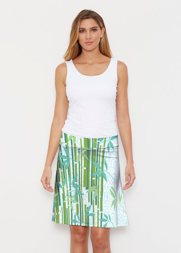 Bamboo Leaves (14197) ~ Silky Brenda Skirt 21 inch