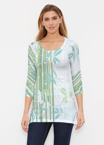 Bamboo Leaves (14197) ~ Buttersoft 3/4 Sleeve Tunic