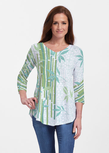 Bamboo Leaves (14197) ~ V-neck Flowy Tunic