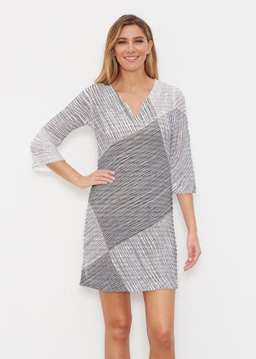 Sketch (14205) ~ Banded 3/4 Sleeve Cover-up Dress
