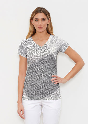 Sketch (14205) ~ Signature Cap Sleeve V-Neck Shirt