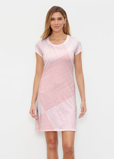 Sketch Coral (14213) ~ Classic Crew Dress