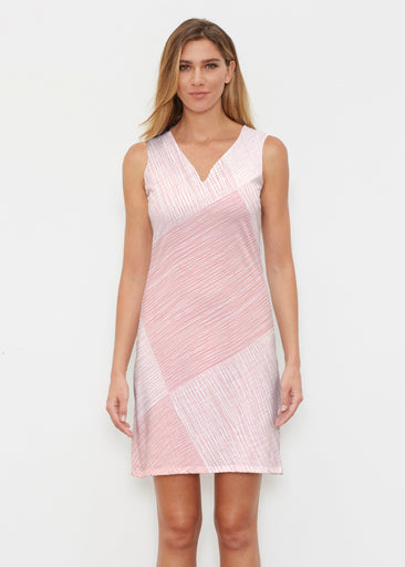 Sketch Coral (14213) ~ Classic Sleeveless Dress