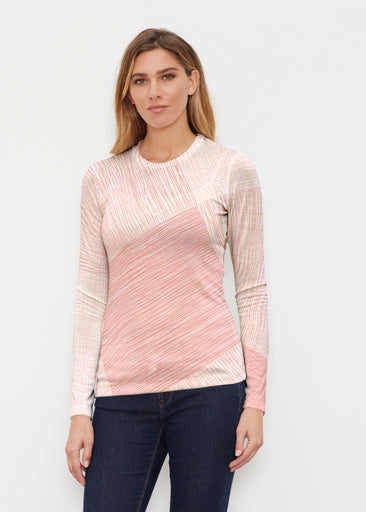 Sketch Coral (14213) ~ Butterknit Long Sleeve Crew Top