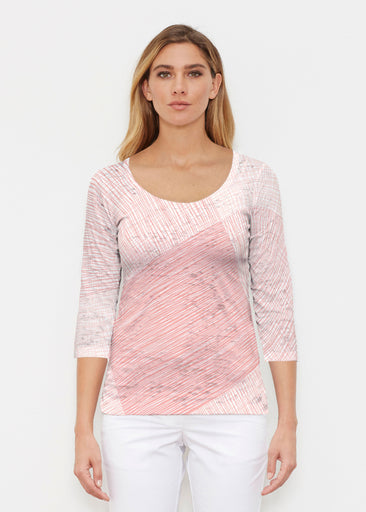 Sketch Coral (14213) ~ Signature 3/4 Sleeve Scoop Shirt