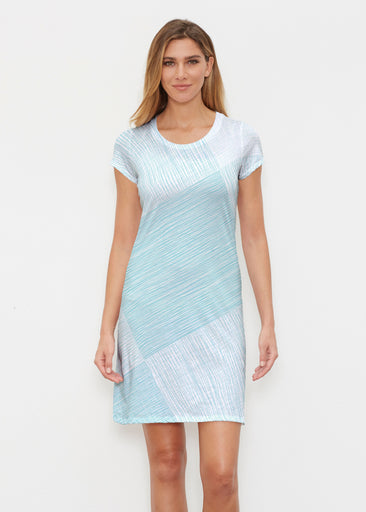 Sketch Aqua (14214) ~ Classic Crew Dress