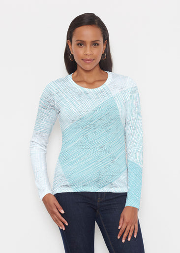 Sketch Aqua (14214) ~ Signature Long Sleeve Crew Shirt