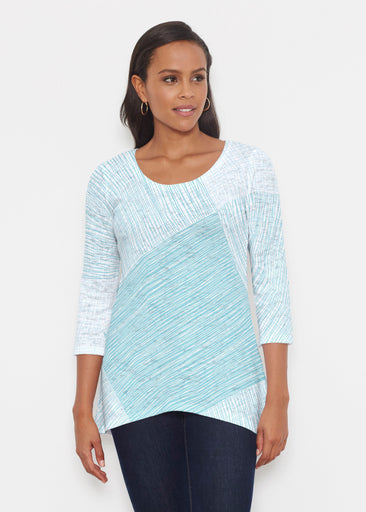 Sketch Aqua (14214) ~ Katherine Hi-Lo Thermal Tunic
