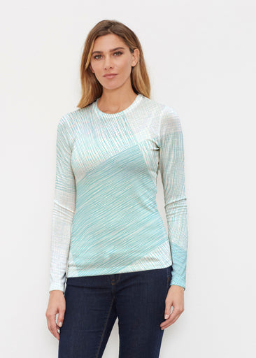 Sketch Aqua (14214) ~ Butterknit Long Sleeve Crew Top