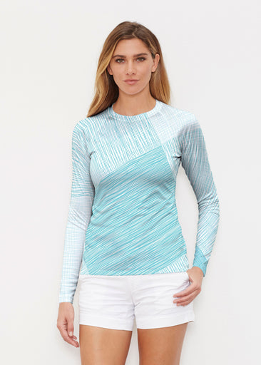 Sketch Aqua (14214) ~ Long Sleeve Rash Guard