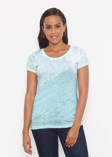 Sketch Aqua (14214) ~ Signature Short Sleeve Scoop Shirt