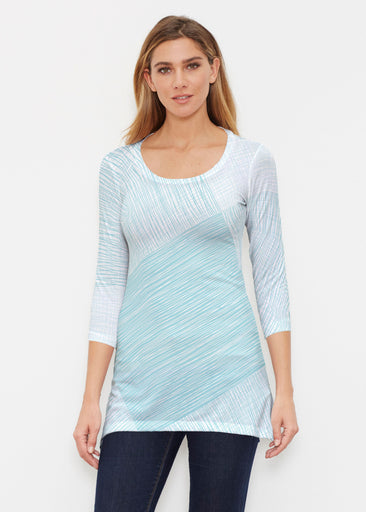 Sketch Aqua (14214) ~ Buttersoft 3/4 Sleeve Tunic