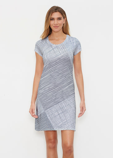 Sketch Blue (14216) ~ Classic Crew Dress