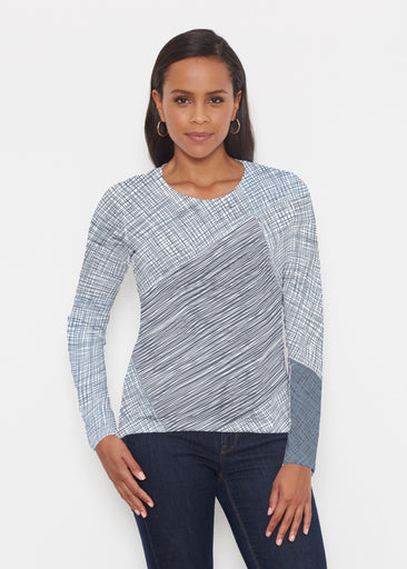 Sketch Blue (14216) ~ Signature Long Sleeve Crew Shirt