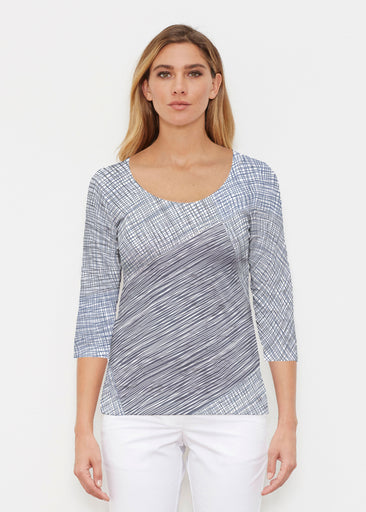 Sketch Blue (14216) ~ Signature 3/4 Sleeve Scoop Shirt