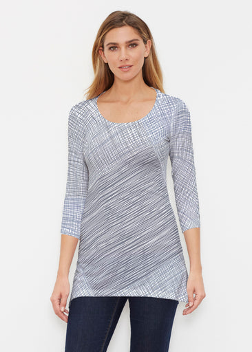 Sketch Blue (14216) ~ Buttersoft 3/4 Sleeve Tunic