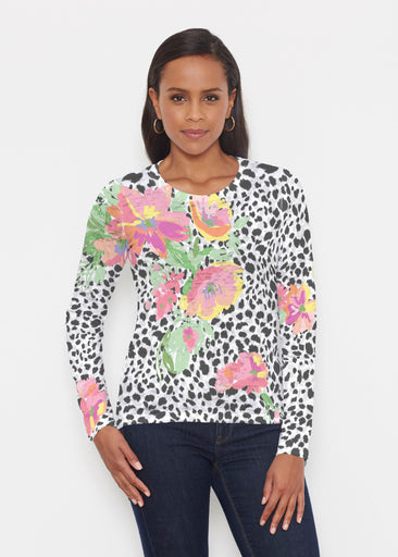 Spring Leopard (14225) ~ Signature Long Sleeve Crew Shirt