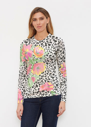 Spring Leopard (14225) ~ Butterknit Long Sleeve Crew Top