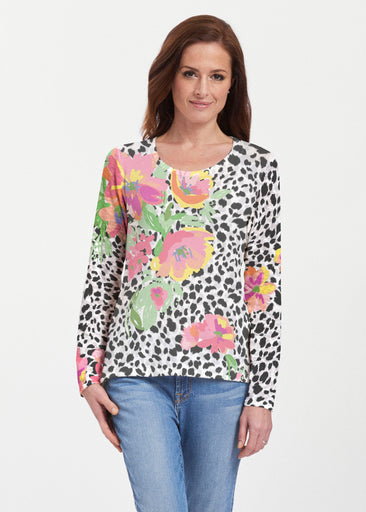 Spring Leopard (14225) ~ Texture Mix Long Sleeve