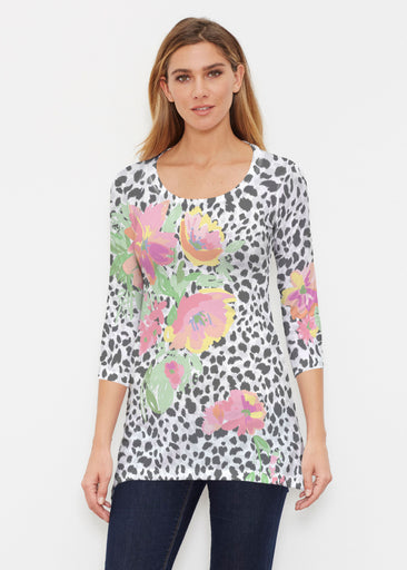 Spring Leopard (14225) ~ Buttersoft 3/4 Sleeve Tunic